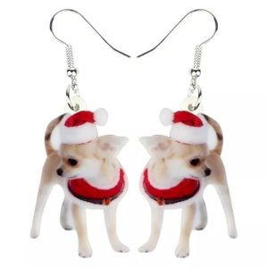 Christmas Chihuahua earrings